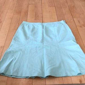 Ann Taylor cotton/rayon spring skirt in light blue